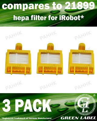 Green Label 3 Pack HEPA Replacement Filter for All 700 Series iRobot Roomba (...