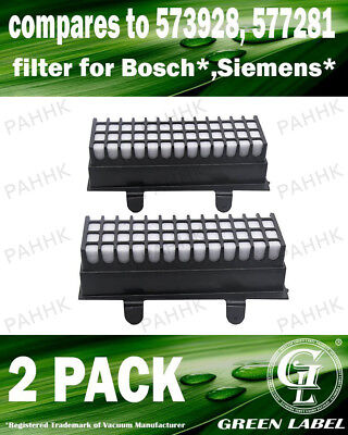 2 Pack Filter for Bosch and Siemens (OEM# 00573928/00577281). By Green Label