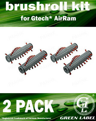 2 Pack (4 pieces) Brush Kit for Gtech AirRam AR01/AR02/DM001/K9. By Green Label