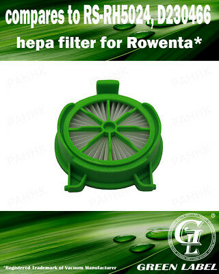 Filter for Rowenta Powerline (OEM# RS-RH5024, D230466). By Green Label