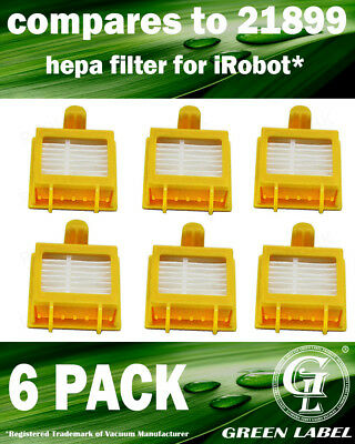 6 Pack Filter for All 700 Series iRobot Roomba (OEM# 21899). By Green Label