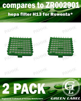 2 Pack Filter for Rowenta Silence Force Vacuum (OEM# ZR002901). By Green Label