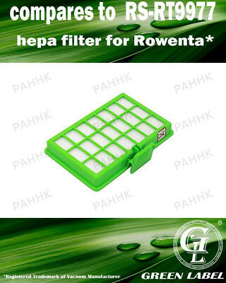 HEPA Filter for Rowenta Power Space (compares to RS-RT9977). By Green Label