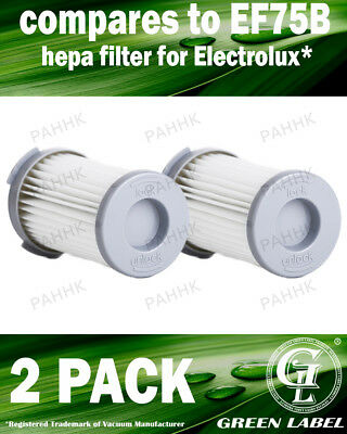 2Pack Filter Electrolux, AEG (OEM# EF75B/F120/9001966051/AEF75B) By Green Label
