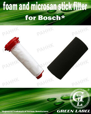 Bosch Athlet Cordless Stick Filter (OEM# 00754175, 00754176). By Green Label