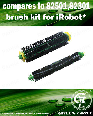 Brush Kit for iRobot Roomba 500 Series (OEM# 82501, 82301). By Green Label
