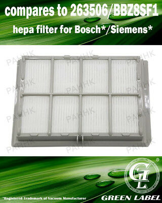 For Bosch/Siemens HEPA Filter (compares to 00578733, BBZ8SF1). By Green Label
