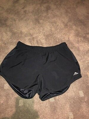 adidas girls running shorts size 13-14 black