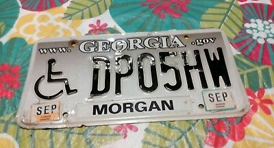 Ga 2012 License Plate ( DP05HW ) MORGAN County handicap