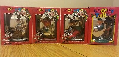 looney tunes collectable ornaments bugs bunny Yosemite Sam daffy duck lot of 4
