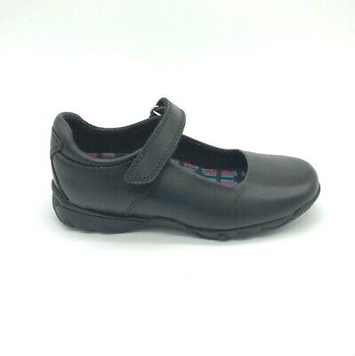 Hush Puppies CINDY JNR Girls Leather Touch Close Mary Jane School Shoes Black