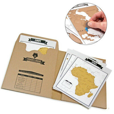 New Travelogue Scratch Travel Log World Map Mini Journal Notebook Portable