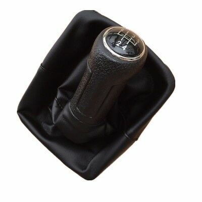 5 Speed Gear Shift Knob Gaiter Boot Cover For Volkswagen Polo 9N 9N2 2002-2009