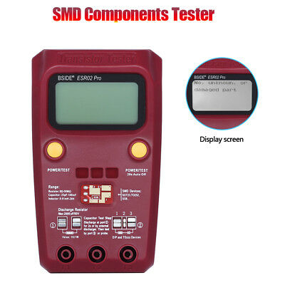 Digital SMD Components Tester detection of Diodes Thyristors and Triacs Handheld
