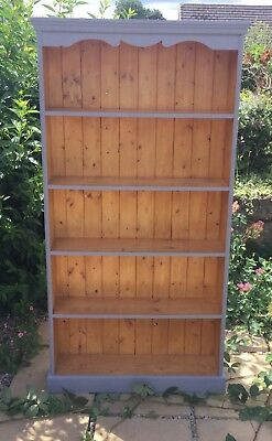 Pine Tall Bookcase With Four Shelves