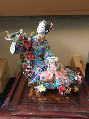 Vintage Ceramic Chinese Figurine