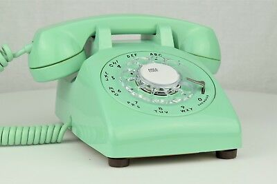 RARE Meticulously Restored - Vintage Antique Rotary Telephone- Mint Green 500