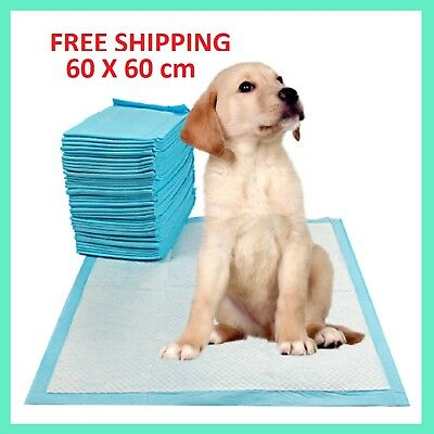 Dog Puppy Pad Toilet Wee Absorbent Large Training Trainer Pads 60 X 60 Cm