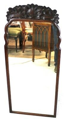 Antique Georgian Carved Oak Wall Mirror - FREE Shipping [PL4528]