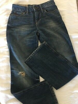 New Polo Ralph Lauren Boy's Jeans Size 8 Dungarees Logo Distressed