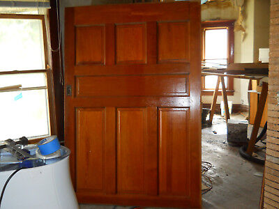 Antique Victorian Style Single Pocket Door 1898 Fir Architectural Salvage