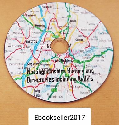 ebooks, 68 of Nottinghamshire history & directories & kellys directories on disc