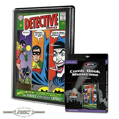 BCW REGULAR / SILVER COMIC BOOK SHOWCASE with UV Protection - Protect & Display!