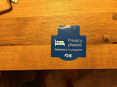 Princess Cruise Line Privacy Please / Refresh My Room -  Door Sign