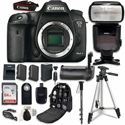 Canon EOS 7D Mark II Digital SLR Camera Bundle (Body Only) (15 items)