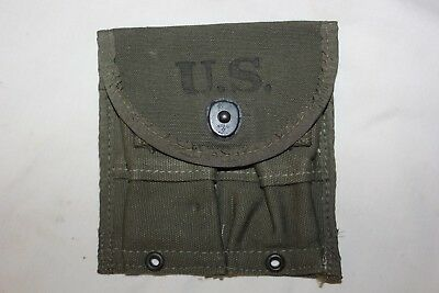 US Military Issue WW2 M1Garand or M1 Carbine Magazine Pouch AVERY 1945 NOS