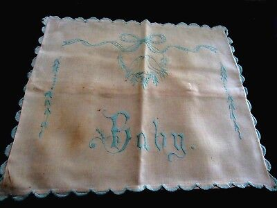"""Vintage/Antique Embroidered """"BABY"""" Pillow Case"""