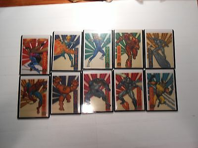 1994 Marvel Universe: All 10 Suspended Animation Chase Cards!!! LOOK!!!