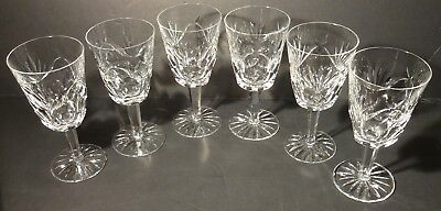 """*VINTAGE* Waterford Crystal ASHLING (1954-) 6 Water Goblets 6 7/8"""" Made IRELAND"""