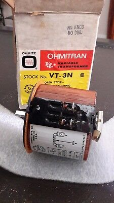 Ohmite Ohmitran VT3N Variable Transformer  NOS