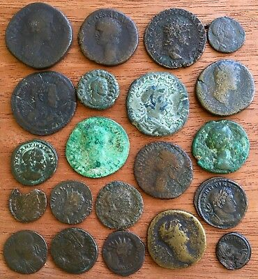 Roman Empire. A Collection Of AE Coins, Including Nero, Hadrian Etc.