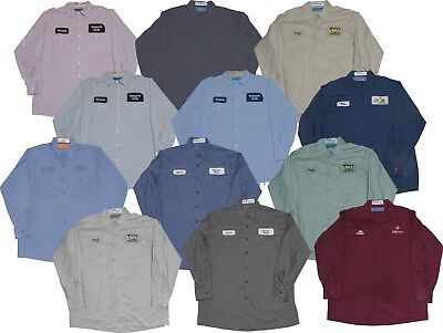 Used Work Shirts Lot of 12 Grade B Long Sleeve Mechanics Cintas Red Kap Unifirst
