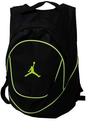 Nike Air Jordan Jumpman Black Neon Green Backpack BookBag Gym Bag NWT New 55122514057d7