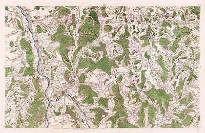 MAP CASSINI FRANCE 18TH CENTURY LONGWY MOSELLE REPLICA POSTER PRINT PAM0784