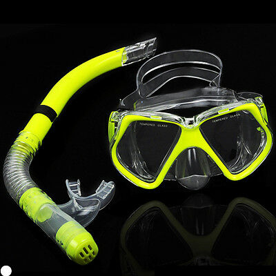 3pcs Kids Glass PVC Swimming Swim Diving Scuba Anti-Fog Goggles Mask Snorkel Set
