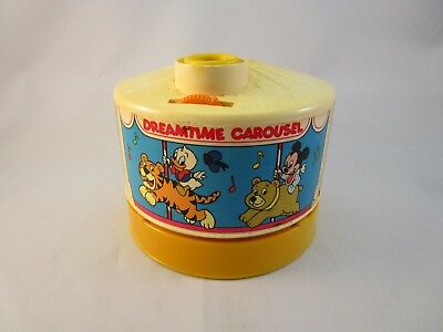 Vintage Disney BabiesDreamtime Carousel Light Sound Projector Mickey Mouse 1988