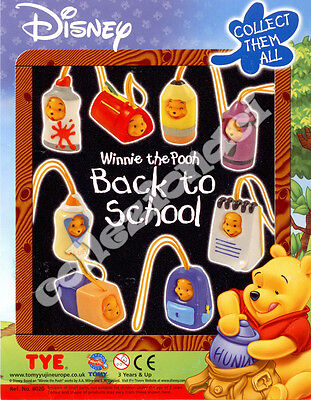Disney Winnie The Pooh Back To School  Danglers TOMY 8 PEZZI