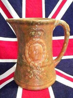 "1937 Coronation Hm King Edward Viii 7"" Large Pitcher / Jug By Arthur Wood"