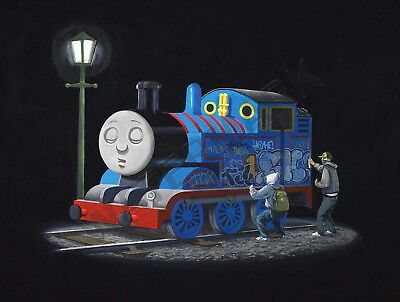 Banksy Thomas Tank Engine Graffiti Street Art Giant Canvas Art Print