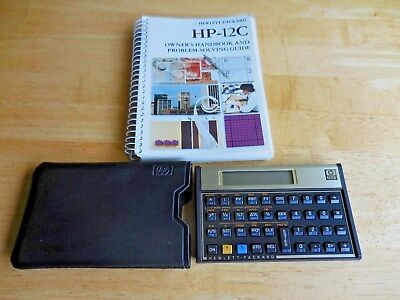 vintage hewlett packard hp 12c financial calculator w case and rh picclick com Hewlett-Packard Handheld Calculators Hewlett-Packard Calculators Scientific