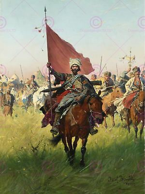 Painting Military Brandt Song Cossack Victors Canvas Art Print