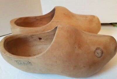"""Dutch wooden clogs 9"""" TAAIBLOK nice condition see photos and details! Holland"""