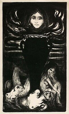 Painting Edvard Munch The Urn Picture Canvas Art Print