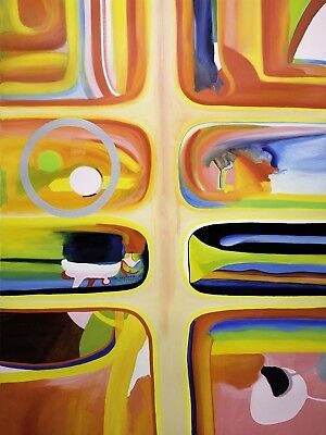 Painting Portrait Of A Fluid Membrane Marendo Muller Abstract Canvas Art Print
