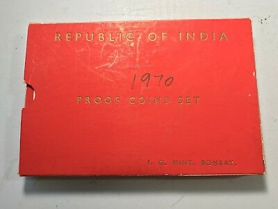 1970 Republic of India Original Proof coin set Extremely RARE high book value
