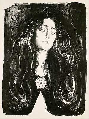 Painting Woman Painting Edvard Munch The Brooch Canvas Art Print